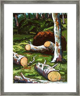 Shock And Awe Framed Print by Charlie Spear