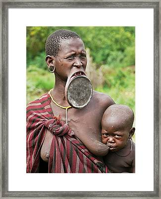 Shocking Africa Framed Print by Liudmila Di