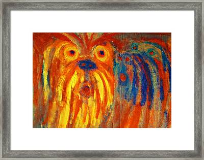 Listen To Them Whispering The Most Shocking News Or Some Old Gossip  Framed Print by Hilde Widerberg