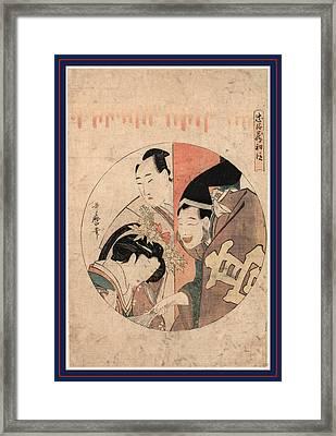 Shodan, Act One Of The Chushingura. Between 1799 And 1801 Framed Print by Kitagawa, Utamaro (1753-1806), Japanese