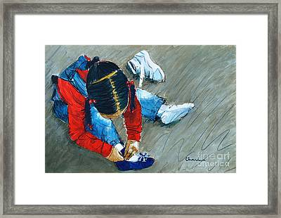 Shoe All New For Tanisha Framed Print by Charles M Williams