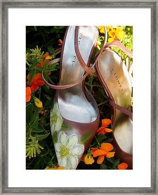 Shoe Daisy Framed Print