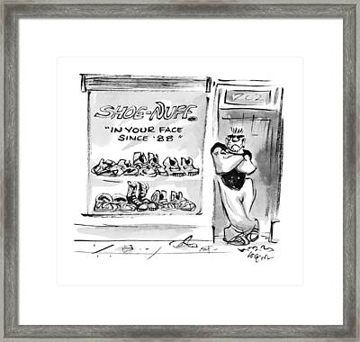 Shoe-nuff In Your Face Since '88 Framed Print