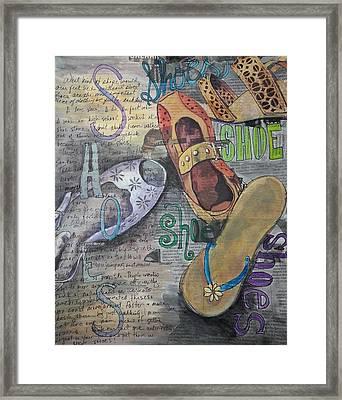 Shoe Obsession Framed Print