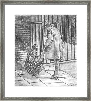 Shoe Shine Framed Print