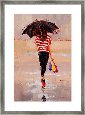 Shoe Shopping Framed Print by Laura Lee Zanghetti