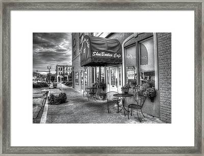 Shoebooties Cafe Framed Print