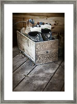 Shoebox Still Life Framed Print by Tom Mc Nemar