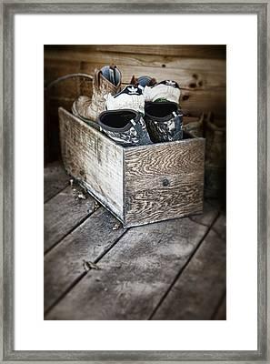 Shoebox Still Life Framed Print by Tom Mc Nemar