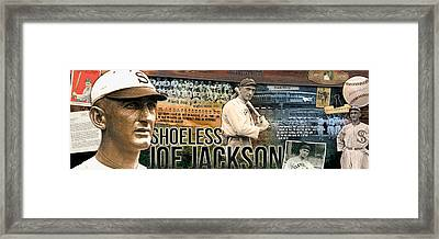 Shoeless Joe Jackson Panoramic Framed Print by Retro Images Archive