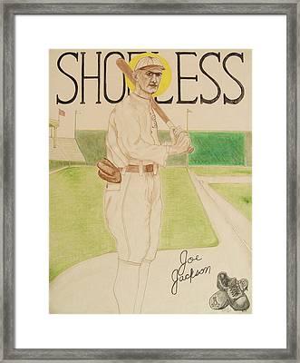 Shoeless Joe Jackson Framed Print by Rand Swift