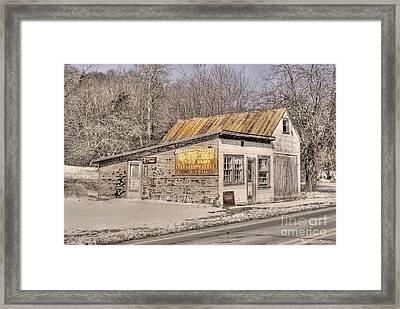 Shoemaker's Garage Framed Print by Benanne Stiens