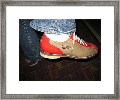 Shoes - Bowling - 01131 Framed Print