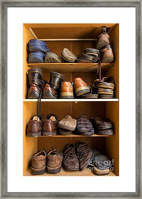 Shoes Box Framed Print by Sinisa Botas