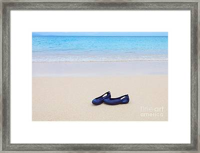 Shoes In Paradise Framed Print