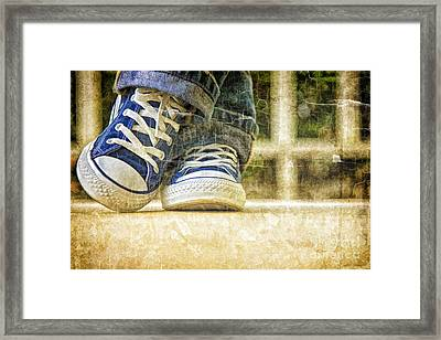 Framed Print featuring the photograph Shoes by Linda Blair
