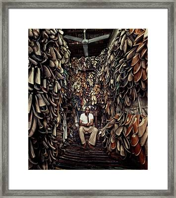 Shoes Maker Framed Print