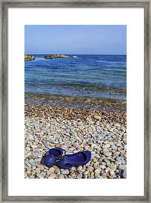 Shoes On Pebbles Framed Print