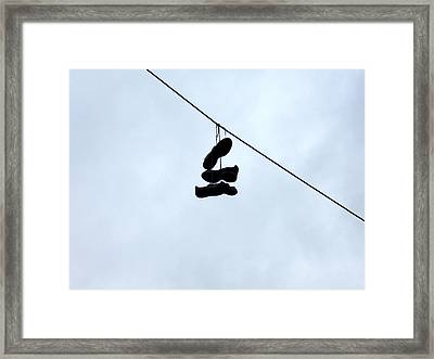 Shoes On The Line Framed Print by Marc Philippe Joly