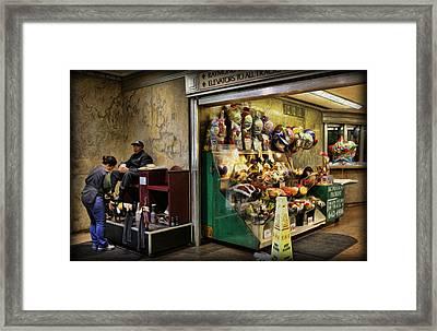 Shoeshine On A Sunday Framed Print by Lee Dos Santos