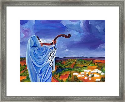 Shofar I Framed Print by Dawnstarstudios