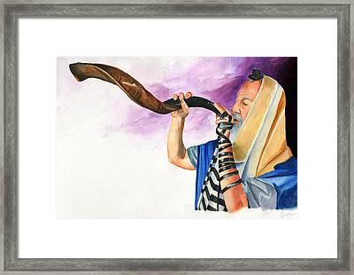 Shofar II Framed Print