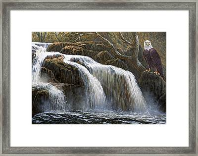 Shohola Falls Framed Print by Gregory Perillo