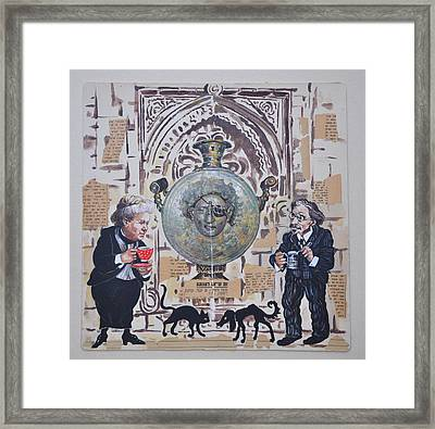 Sholem Aleichem And Selma Lagerlof In Jerusalem Framed Print by Nekoda  Singer