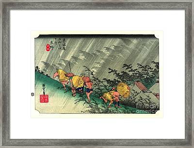 Shono Station Tokaido Road 1833 Framed Print