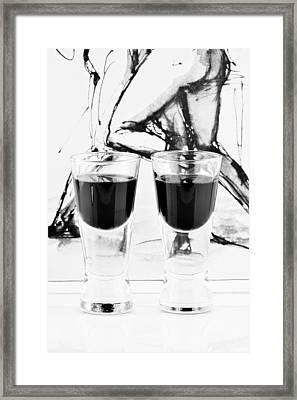 Shoot Glasses Framed Print by Tommytechno Sweden