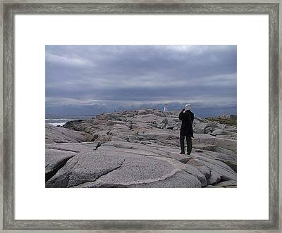 Shoot The Coming Storm Framed Print by George Cousins