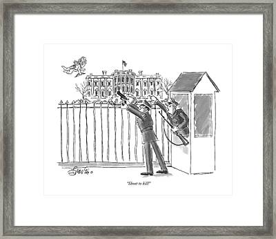 Shoot To Kill! Framed Print by Edward Frascin