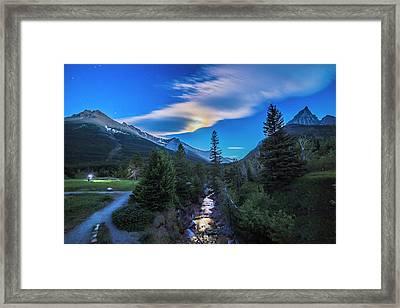Shooting In The Moonlight Framed Print