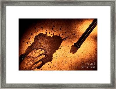 Shooting Framed Print