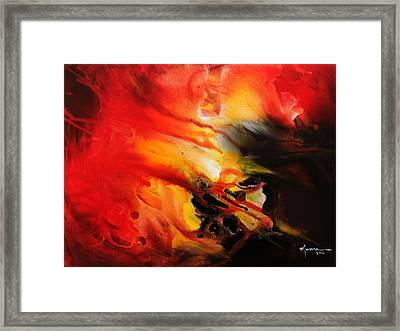 Framed Print featuring the painting Shooting Star by Kume Bryant