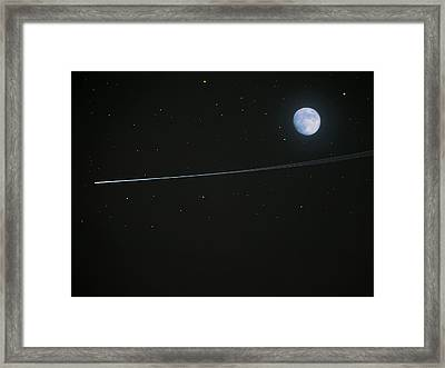 Shooting Star Framed Print by Pete Trenholm