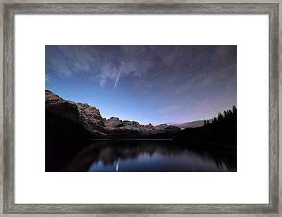 Shooting Star Framed Print by Tommy Eliassen