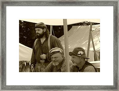 Shooting The Breeze Framed Print by Thia Stover