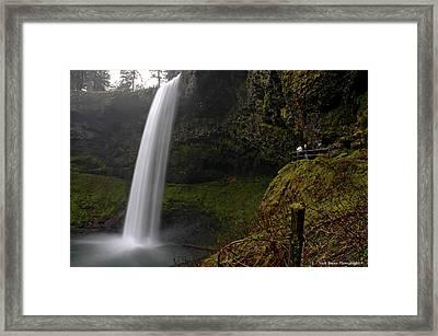 Shooting The Falls Framed Print by Nick  Boren
