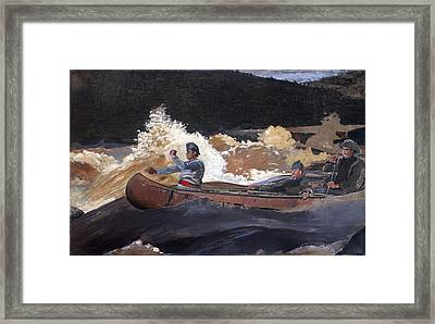 Shooting The Rapids Saguenay River Framed Print by Philip Ralley