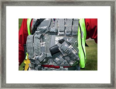 Shooting Vest Framed Print