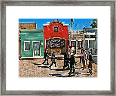 Shootout At The Ok Corral In Tombstone-arizona Framed Print by Ruth Hager