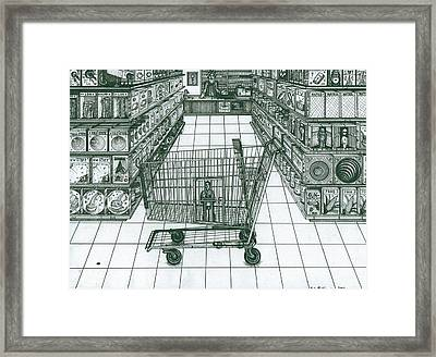 Shop And Slave Framed Print by Richie Montgomery