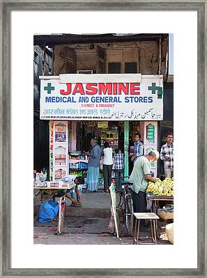 Shop In Dharavi Slum Framed Print by Mark Williamson