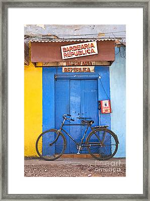 Shop On Street In Goa India Framed Print