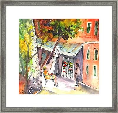 Shop Owner In Portofino In Italy Framed Print by Miki De Goodaboom