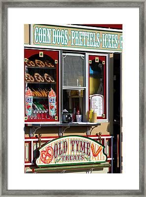 Shop Selling Snacks On Pier 39 In San Framed Print