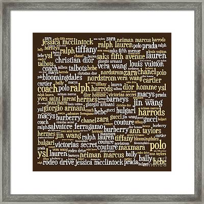 Shop Until You Drop 20130622bwwa85 Framed Print by Wingsdomain Art and Photography