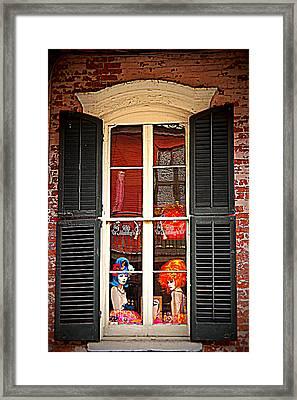 Shop Window Framed Print