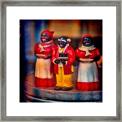 Framed Print featuring the photograph Shop Window Trio by Chris Lord